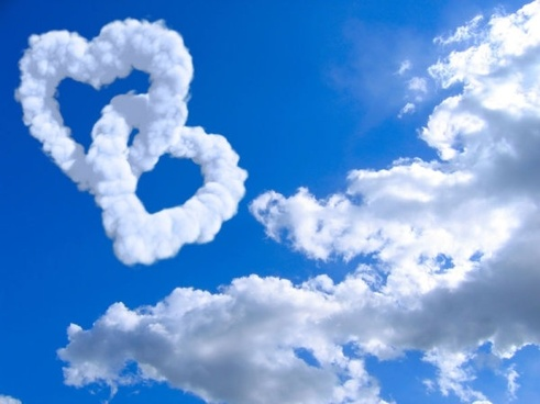 romantic heartshaped white clouds highdefinition picture 04