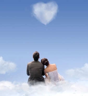 romantic heartshaped white clouds highdefinition picture 06
