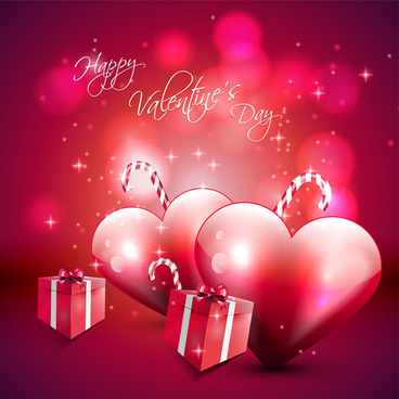 romantic love background with valentine vector
