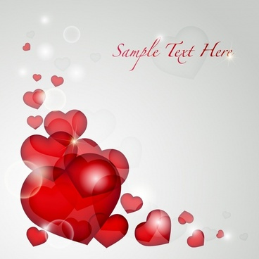 valentine background sparkling blurred red hearts decor