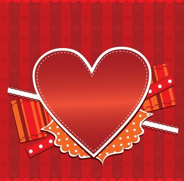 romantic love heartshaped heartshaped greeting card vector