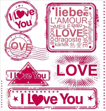 romantic love love vector
