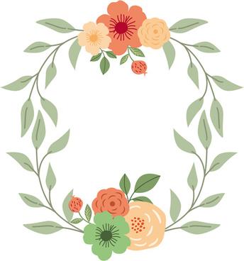 romantic love ornaments elements set vector