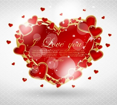 romantic love romantic valentine vector