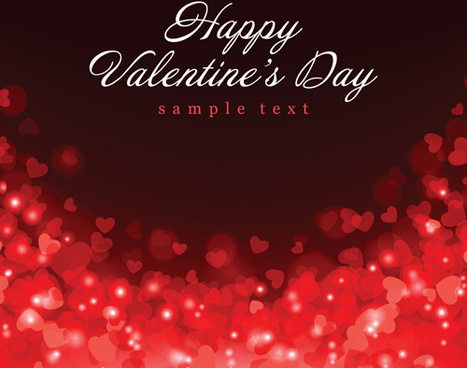 romantic of valentines day backgrounds art vector