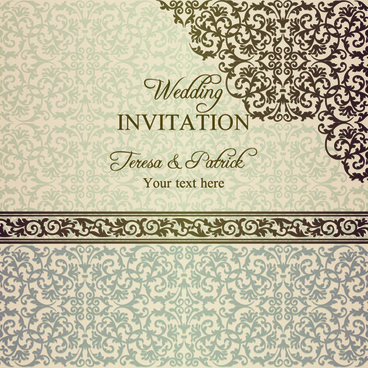 romantic ornate wedding invitations