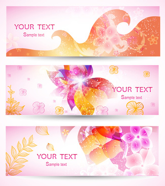 romantic pink banner set