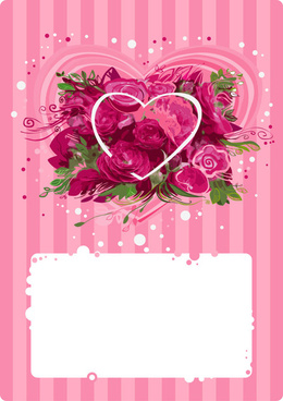 romantic roses background art vector