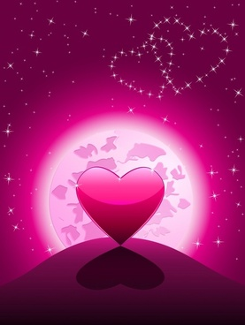valentine background sparkling star lights heart earth decor