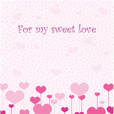 valentine background pink hearts decor flat design