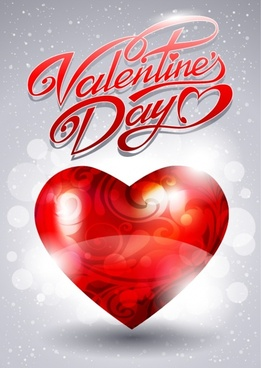romantic valentine39s day greeting cards wordart bright vector