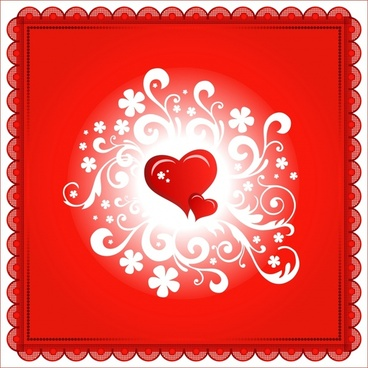 romantic valentine39s day heartshaped happy vector