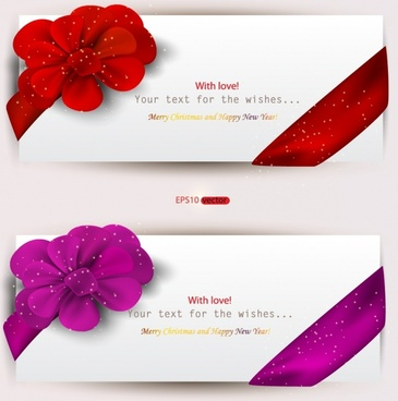 romantic valentine39s day heartshaped red ribbon vector