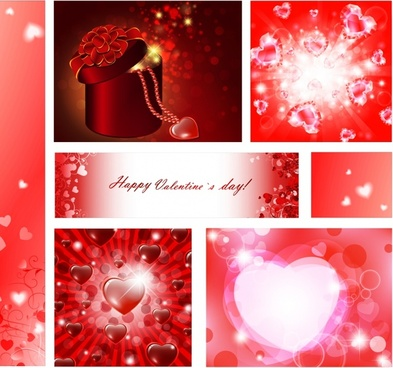 valentines background templates busting dynamic bokeh hearts decor