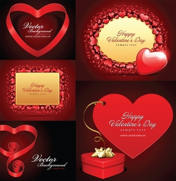 romantic valentine day love card vector