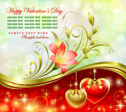 romantic valentine day theme background vector
