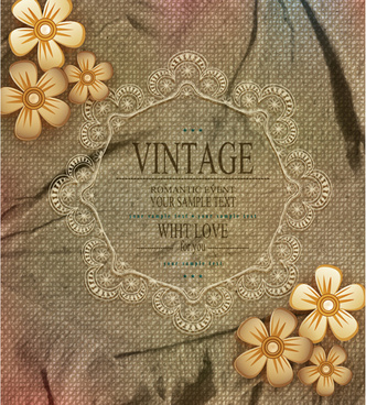 romantic vintage cards with love vector