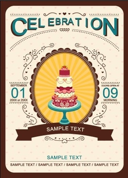 romantic wedding invitation card creative vector