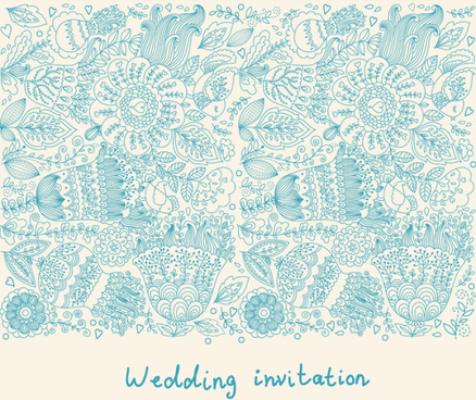romantic wedding invitation card vector