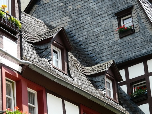 roof slate roof gable
