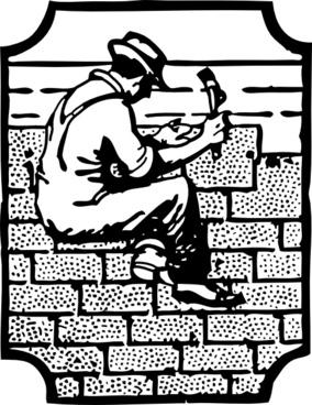 Roofer Worker Employee clip art