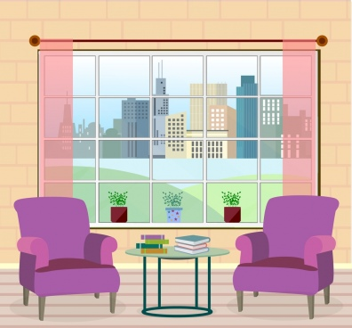room decoration drawing armchair furniture colored 3d design