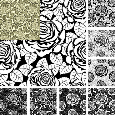 rose decorative pattern background design vector