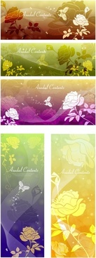 rose dream vector background butterfly silhouette