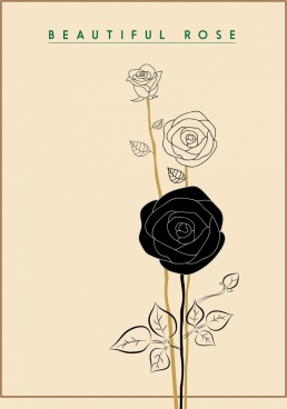 rose icon draft hand drawn style