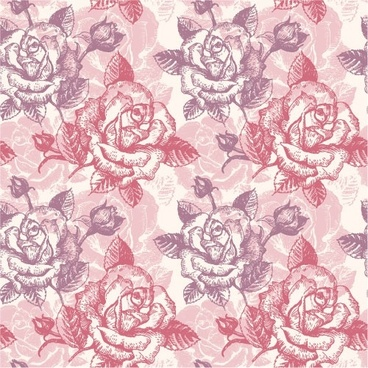 rose pattern background 03 vector