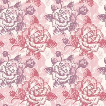 rose pattern background 03 vector