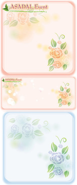 rose pattern text box vector