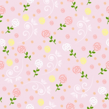 roses background colorful flat repeating decor