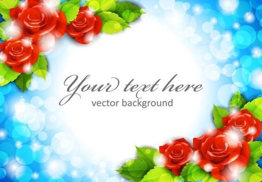 roses border 02 vector