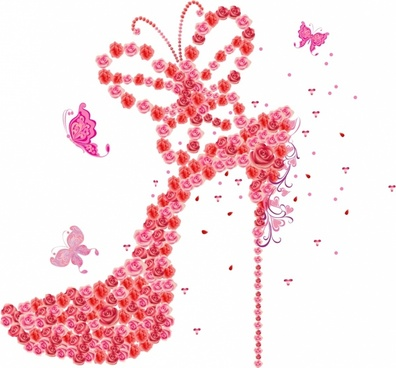 Roses High Heel
