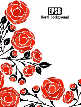 roses vector 4