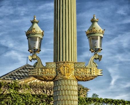 rostral columns lamp post elegant