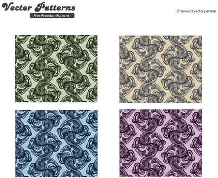 rotating decorative pattern background vector