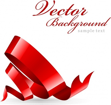 ribbon background shiny red 3d twist decor