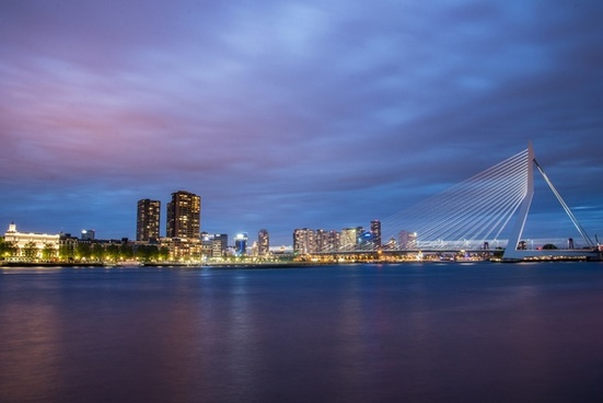 rotterdam city by night
