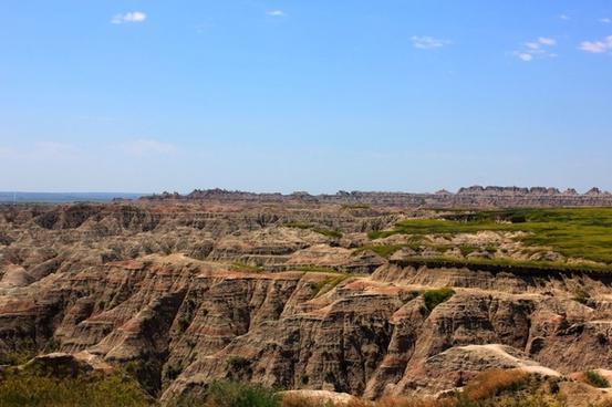 rough landscape at badlands national park south dakota