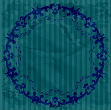 round border template dark blue seamless decoration
