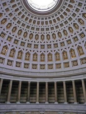 round ceiling artful befreiungshalle