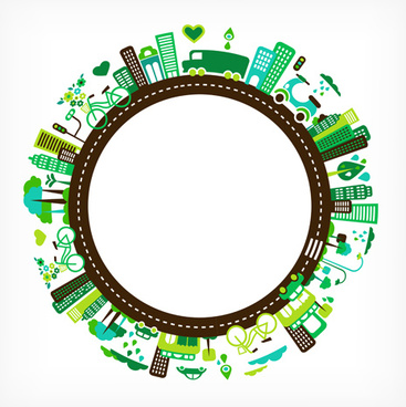 round city frames vector graphic