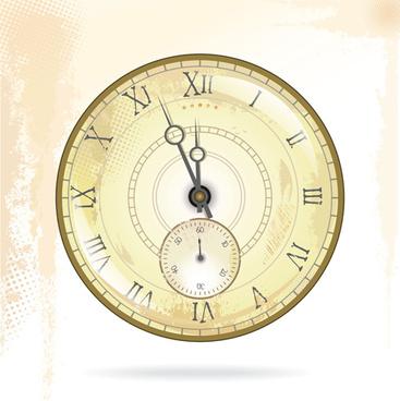 round clock vintage styles vector