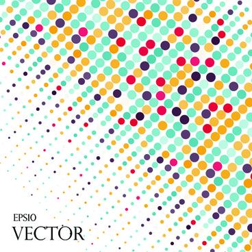 round dot modern background vector