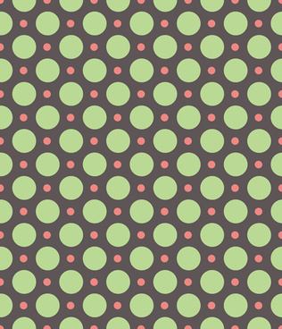 round dot seamless pattern vector