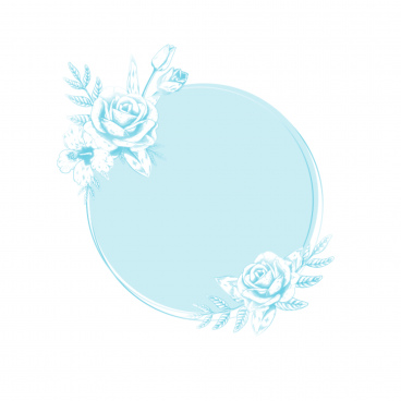 round floral label brushes
