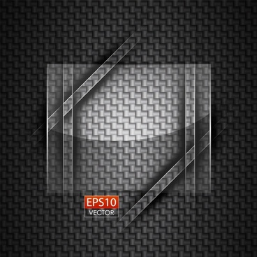 round glass advertising background vector