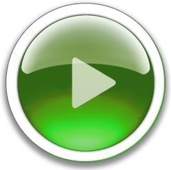Round green play button